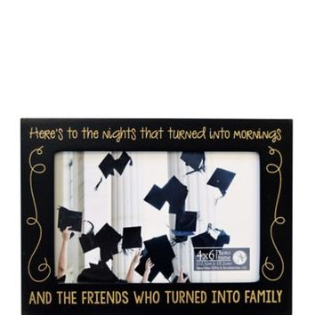 Black Here's to the Nights Photo Frame 7 1/2in x 5 1/2in | Party City