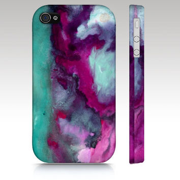 Iphone 4s case, iphone 5 case, iphone case, watercolor design, abstract painting, art for your phone