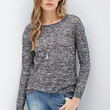 LOVE 21 Sheer Marled Knit Sweater
