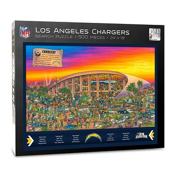 Los Angeles Chargers Find Joe Journeyman 500-piece Puzzle