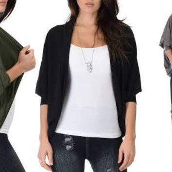 Lyss Loo Women's 3-Pack Cocoon Dolman Cardigans Size XL Taupe/Black/Olive Green
