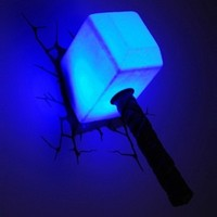 The Avengers 3D Wall Art Nightlight - Thor Hammer