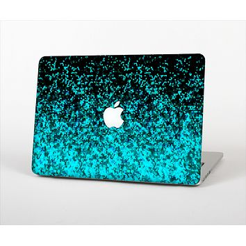 "The Black and Turquoise Unfocused Sparkle Print Skin Set for the Apple MacBook Pro 13"" with Retina Display"