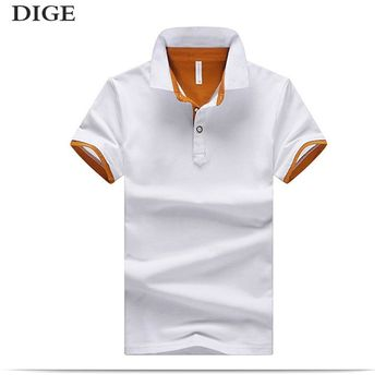 New 2018 Men's clothing New Men Polo Shirt Men Business & Casual Solid male Polo Shirt Short Sleeve breathable Polo Shirt B0255