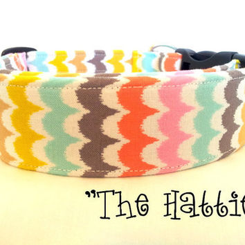 "Multi-Color Girly Dog Collar ""The Hattie"""