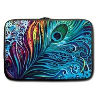 "Unidesign Peacock Feather 13"" 13.3"" Inch Laptop Sleeve Bag for Apple Macbook pro, air, Dell Inspiron, Vostro, Samsung, ASUS UL30, Toshiba Notebook:Amazon:Computers & Accessories"