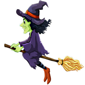 Witch Image, Green Witch Image, Witch on Broom Image,Large Teen Witch, Transparent Cutout, Wall Décor, Teen Room,Teen Décor, Home Décor