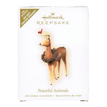 "HALLMARK 2007 Exclusive ""PEACEFUL ANIMALS"" VIP Keepsake Ornament"