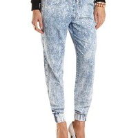 "Refuge ""The Jogger"" Acid Wash Pants"