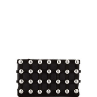 Alexander Wang Roxy Dome Stud Cage Pouch Bag, Black