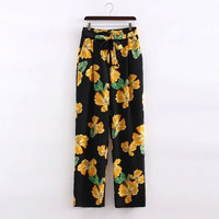 Stylish Women's Fashion Summer Print Casual Pants [4919982404]