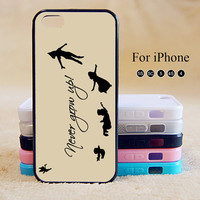 Peter Pan,Never Grow up, iPhone 5 case,iPhone 5C Case,iPhone 5S Case, Phone case,iPhone 4 Case, iPhone 4S Case,Case-IP002Cal
