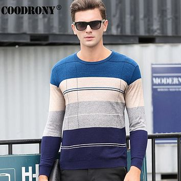 Thin Sweater Men Clothing Knitted Wool Sweaters Fashion Striped O-Neck Cashmere Pullover