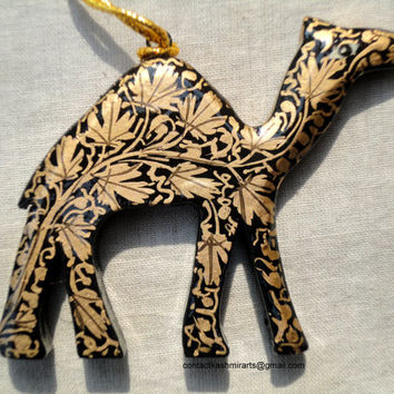 Santa Christmas tree ornament/Christmas decoration/ornament/camel/Handmade contemporary Home Décor/Paper mache/Papier Mache/Camel/Elephant