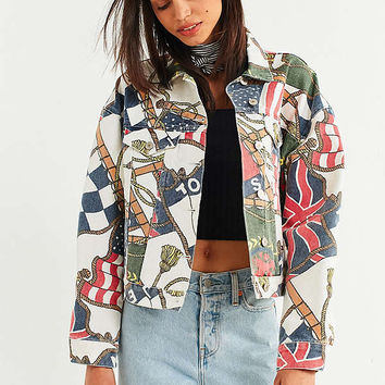 Tommy Jeans '90s Flag Print Denim Jacket | Urban Outfitters