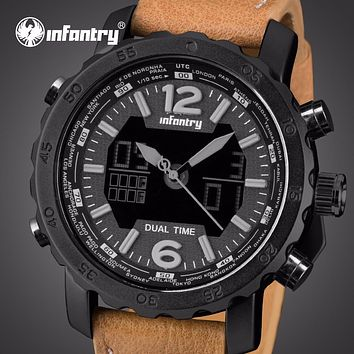 Mens Watches Luxury Analog Digital Military Aviator Army Leather Watch