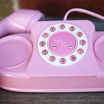 Vintage Pink Mary Kay Phone - Princess Phone with Push Buttons - WORKS
