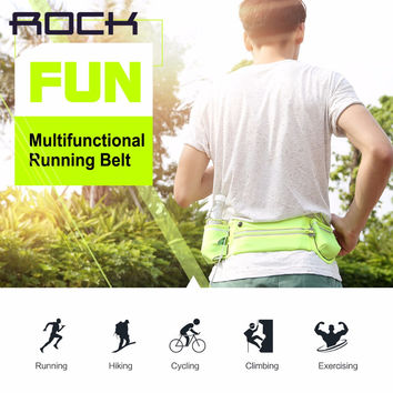 ROCK Multifunctional Running Belt Universal Waterproof canvas Sports pockets for under 6 inch phones