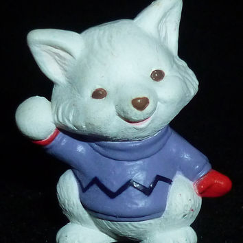 Hallmark Merry Miniature Winter Arctic Fox Figurine