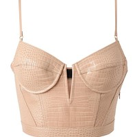 Browns fashion & designer clothes & clothing | ALEXANDER WANG | Crocodile Embossed Leather Bustier