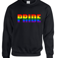 Adult Sweatshirt Pride Rainbow Colors Love Gay Lesbian Top