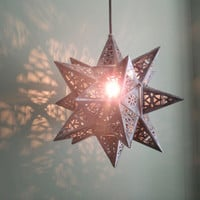 Bright Star Anthropologie inspired lamp hanging or desk style NO WIRING REQUIRED