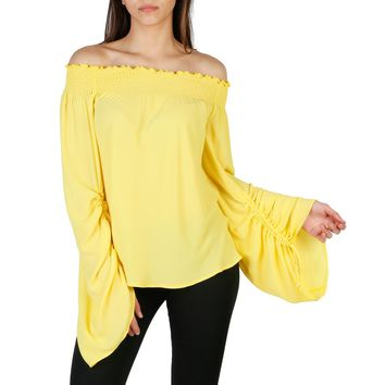 Imperial Yellow Boat Neck Long Sleeve Shirt