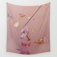 Harry Styles - flowers Wall Tapestry by greendream57