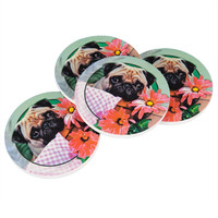 Pug Set of 4 Sandstone Coasters