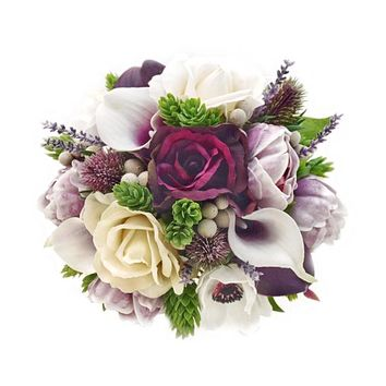 Calla Lilies, Roses, Peonies, Anemones, Brunia, Lavender, Hops & Thistle
