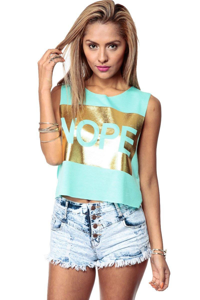 Nope i am dope crop top cicihot top from cici hot teen for Best dress shirts online