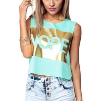 Nope I Am Dope Crop Top @ Cicihot Top Shirt Clothing Online Store: Dress Shirt,Sexy Womens Shirt,T Shirts,Corset Dress,White T Shirt,Girl T Shirt,Short sleeve top