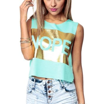 6c65677a52 Nope I Am Dope Crop Top @ Cicihot Top Shirt Clothing Online Store: Dress  Shirt