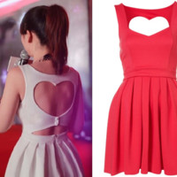 Back heart nice dress