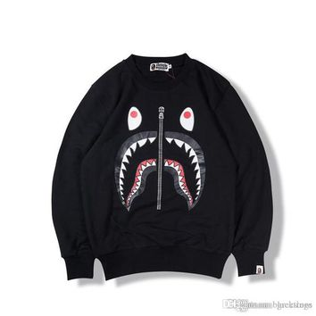 Men Women Shark Sleeve Round Collar Fleece Sweater Shark Neck Sweater Good Quality Pullover Hooded Hoodie