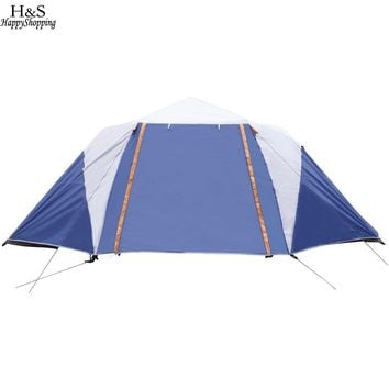ANCHEER 8-Person 2 Bedroom Camping Tent With Shelter