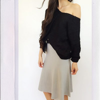 Bad Gal Skirt- Grey