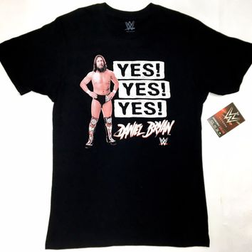 WWE Wrestling Daniel Bryan YES! YES! YES! T-Shirt NWT Licensed & Official