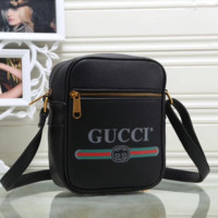 Gucci  Leather Shoulder Bag Crossbody Satchel