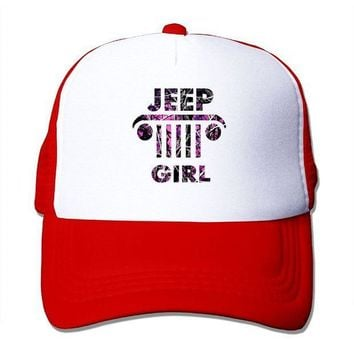 ESBON3F SHINENGST Jeep Girl Mesh Trucker Caps/Hats Adjustable For Unisex Black