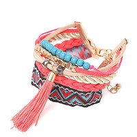 With Love From CA Multi Row Tassel Bracelet at PacSun.com