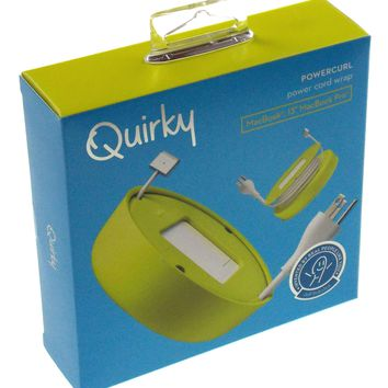 Quirky Powercurl Power Cord Wrap Green Macbook Air Tangle Free Neat Portable