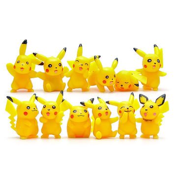 Pokemon Go 12pcs/set Pikachu Kawaii Styles Action Figure Toys