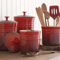 Le Creuset Enameled Stoneware Canisters