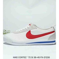NIKE CORTEZ 72 SI Classic Forrest Breathable Retro Running Shoes F-MLDWX white