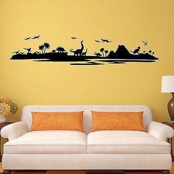Vinyl Decal Wall Sticker Dinosaurs Kids Room Children Art Mural (ig1989)
