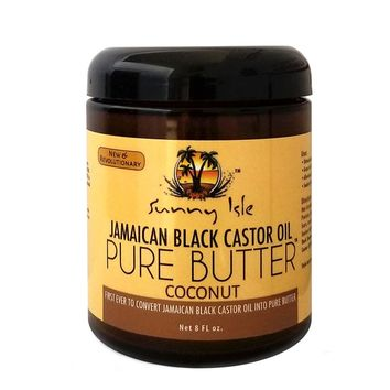 Sunny Isle Jamaican Black Castor Oil PURE BUTTER with COCONUT OIL 8oz for Hair and Skin Care