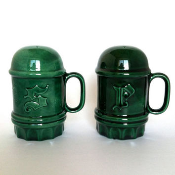 Vintage Irish Shamrock Green Collectible Salt and Pepper Shakers Christmas In July