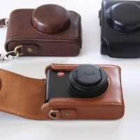 Leather Dear Camera Case & Strap Set