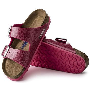 Best Online Sale Birkenstock Arizona Soft Footbed Birko Flor Magic Galaxy Bright Rose